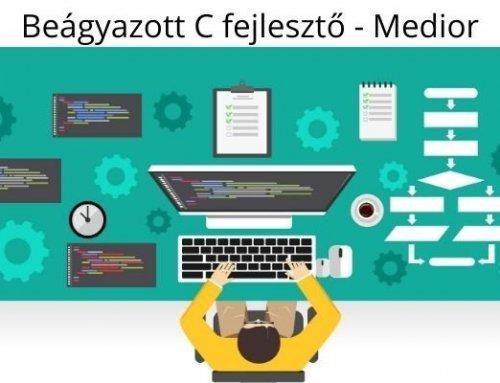 Beágyazott C fejlesztő – Medior