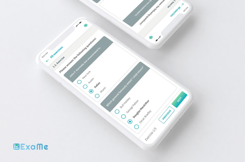 ExaMe mobil alkalmazás fejlesztés
